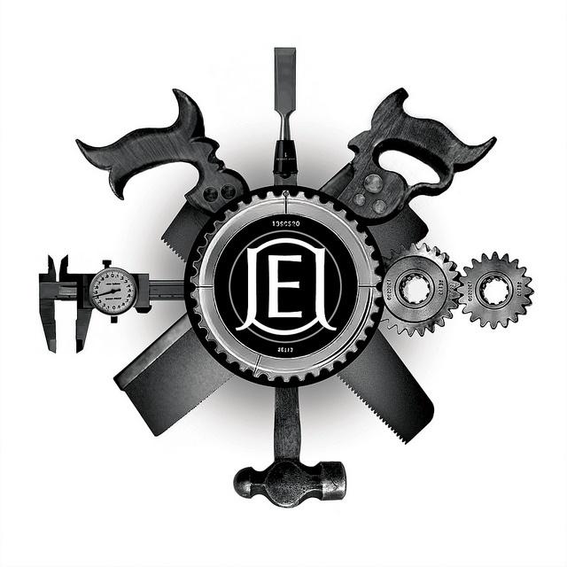 woodworking logo ideas. logo for a machinist, woodworker and artist. jon erik johnston// woodworking ideas