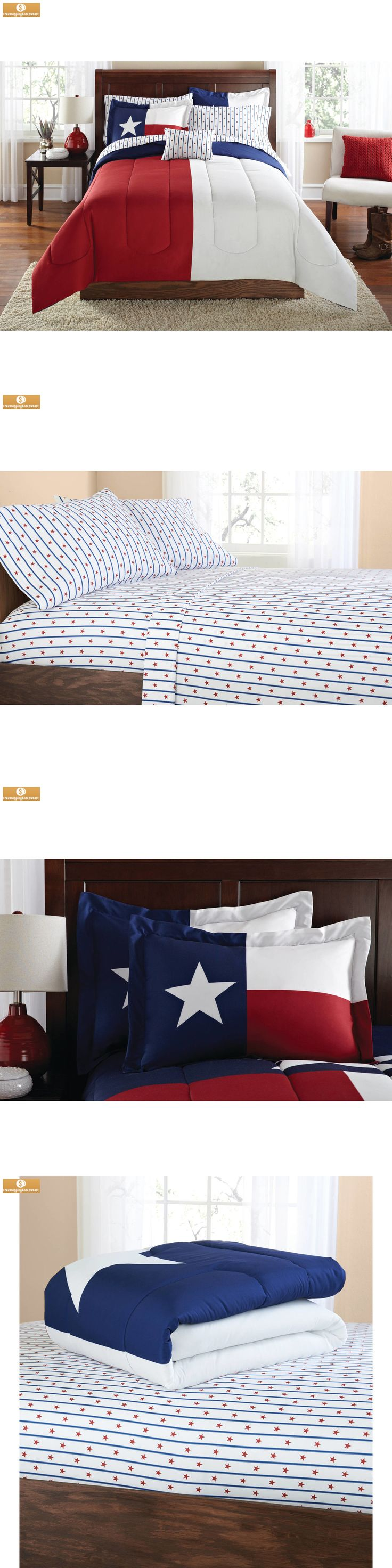 Bed-in-a-Bag 20469: Twin Twin Xl Texas Star Flag Comforter 6 8 Bed In A Bag Coordinated Bedding Set -> BUY IT NOW ONLY: $59.32 on eBay!