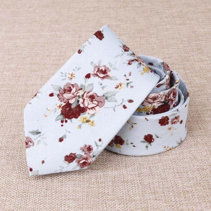 Floral Necktie Printed Skinny Ties