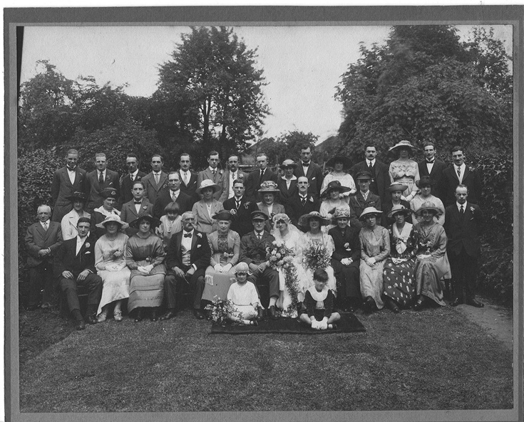The wedding of John Bernard Ebel and Florence Jessie Newark. Parents to Denys, Brenda and Madeleine. My grandparents Boy (as we called him) and Nana.