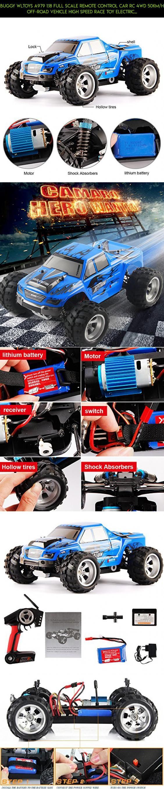 Buggy WLtoys A979 1:18 Full Scale Remote Control Car RC 4WD 50KM/H off-road vehicle High Speed Race Toy Electric Car with Shock Resistant Black FS (-A979-Blue) #racing #parts #gadgets #4wd #camera #wltoys #rc #tech #technology #shopping #products #drone #kit #plans #fpv
