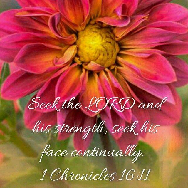 1 Chronicles 16:11 KJV   Bible Verses - My Verses   Bible ...