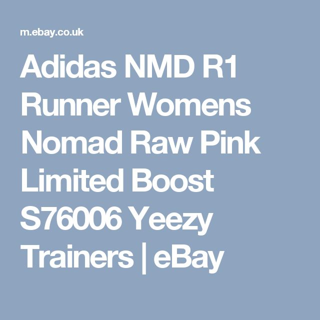 Adidas NMD R1 Runner Womens Nomad Raw Pink Limited Boost S76006 Yeezy Trainers  | eBay