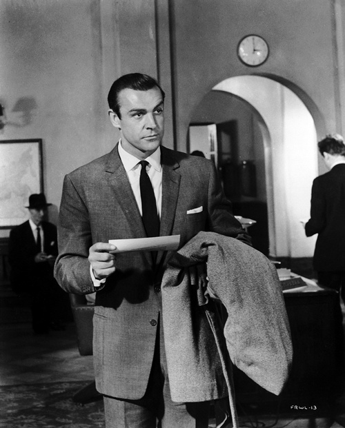 "Sean Connery as James Bond in the 1963 film ""From Russia With Love""."