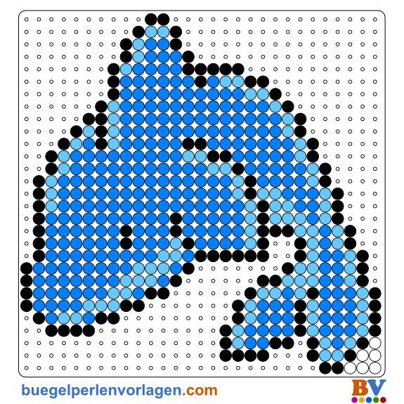 Delphin Bügelperlen Vorlage