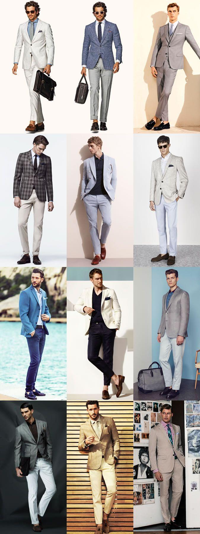 Men's Summer Business Wardrobe Updates: Formal with Summer Colour Lookbook Inspiration