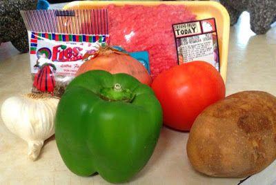 Mi Arroz y Frijoles: Picadillo (Carne picada con papas): Receta