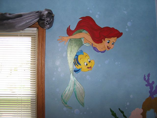 Little Mermaid Room Ideas | Little Mermaid Mural
