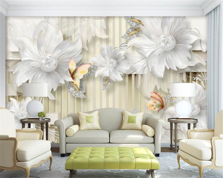 Beibehang 3D Wallpaper High Quality Palace Jewelry Diamond Flower Wallpaper  Living Room TV Background Decorative 3D Part 89