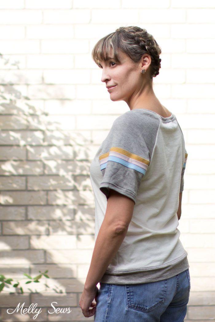 7a7e176ed748e5 Striped Raglan - How to Add Stripes to Clothes - Sew Stripes - Melly Sews