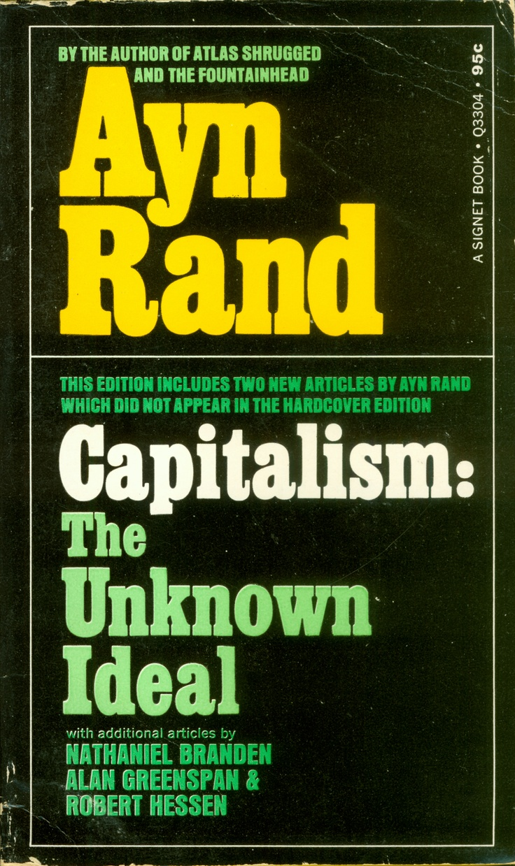 best images about the writings of ayn rand capitalism the unknown ideal first paperback printing by nal 1967