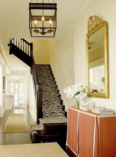 LUV IT: Decor, Idea, Zebras Stairs, Tables Skirts, Skirted Table, Stairs Runners, Animal Prints, House, Skirts Tables