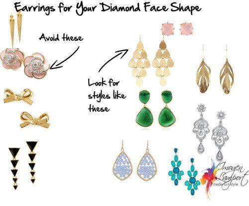 Earrings for Your Face Shape – Diamond