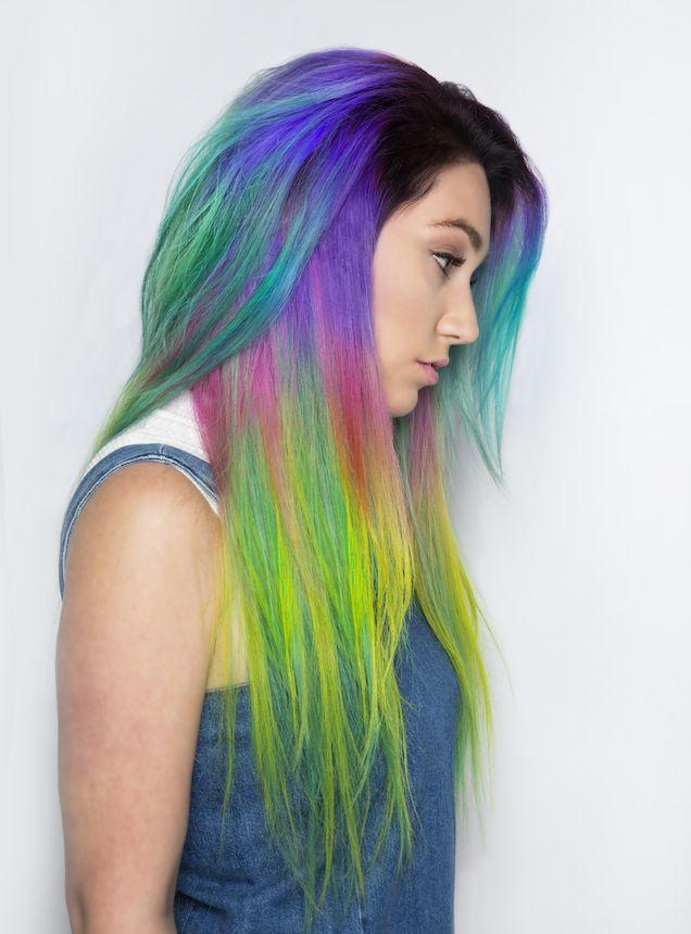 Mermaid Hair Rainbow Hair Unicorn Hair Pravana hair by Rickey Zito hotonbeauty.com
