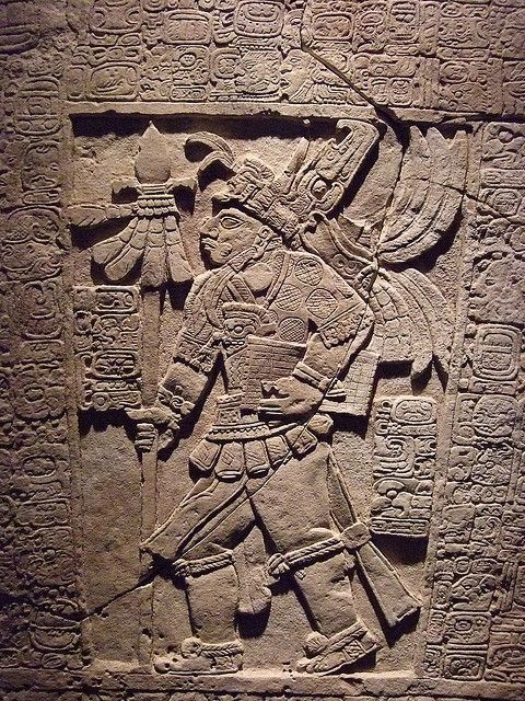 The Sak Tzi Lintel Stela showing armed ruler with jaguar s… | Personaje con libro, Maya.