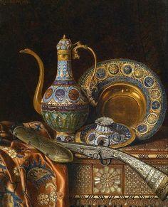 Max Schödl Still Life with Oriental Antiques 1886