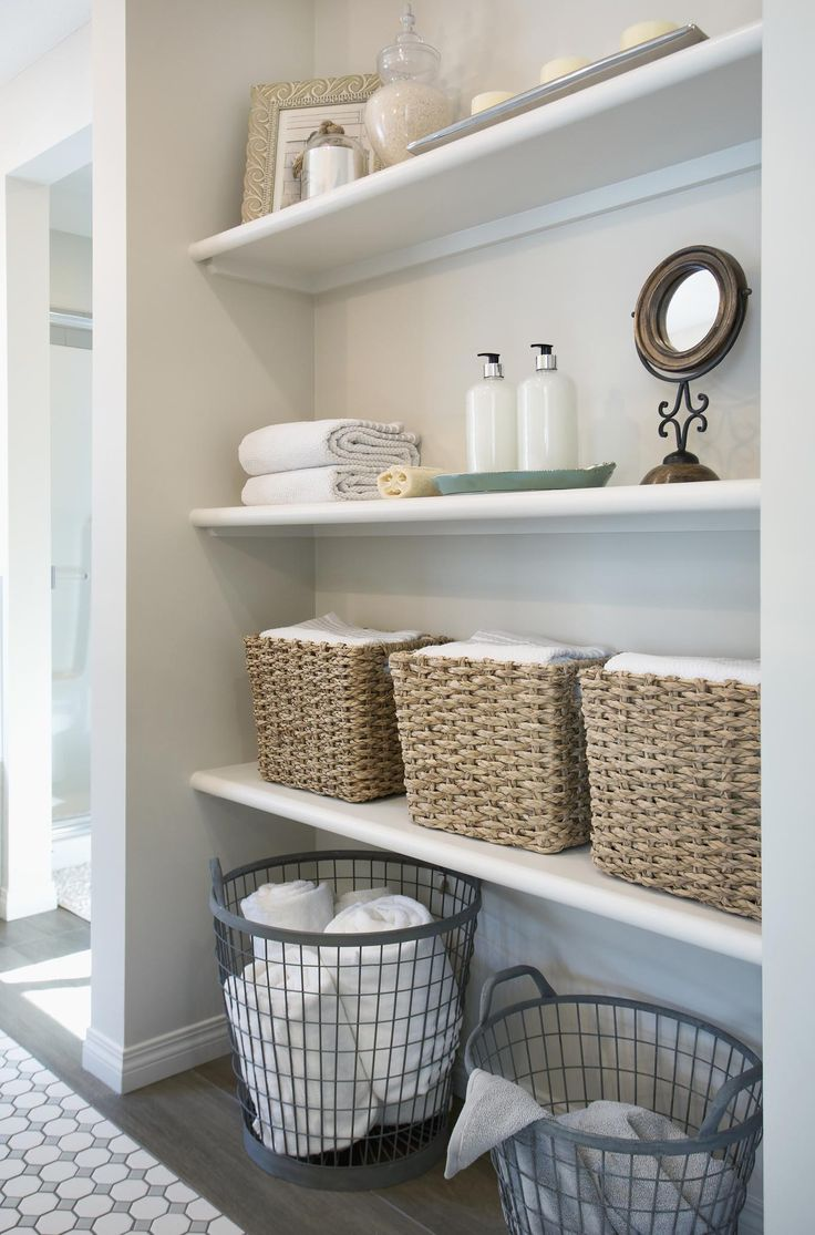 Linens Since bathrooms often breed mold and mildew, you want to keep linens, like towels and sheets, in another room. Running the exhaust fan as much as possible can also help air out damp towels after your shower.