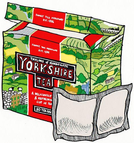 Yorkshire tea - king of all teas, especially with milk (or vanilla soymilk as I do)