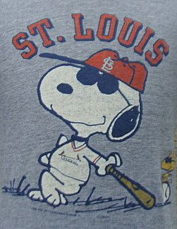 Vintage 1971 St. Louis Cardinals Snoopy t shirt via Etsy