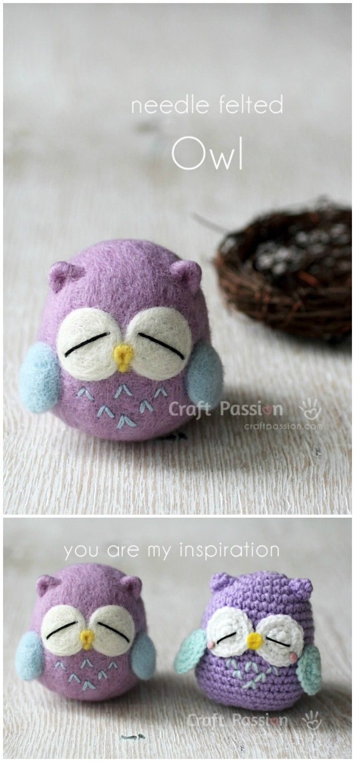 I have ghathered 20 crochet owl patterns-how to crochet owl patterns that wil realli inspire you!Needle Felted Owl