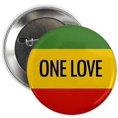 "One Love Rasta 2.25"" Button > Rasta Button Pins > Rasta Gear Shop"