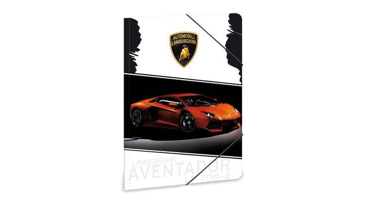Lamborghini gumis mappa - A4 - Iratgyűjtők, Gumis mappák, Dossziék - Nebuló Tanszeráruház. A/4 méretű gumis dosszié iratok, füzetek tárolására. 350 gr-os erős, vastag kartonból készült dosszié lekerekített sarkokkal, színes gumi zárópánttal. Külseje matt fóliával és fényes lakkal nyomott. Méret: 240x330 mm