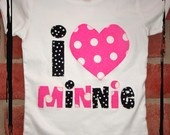 DISNEY PACKAGE Mickey Tie and Minnie Love Tshirt or by thenook
