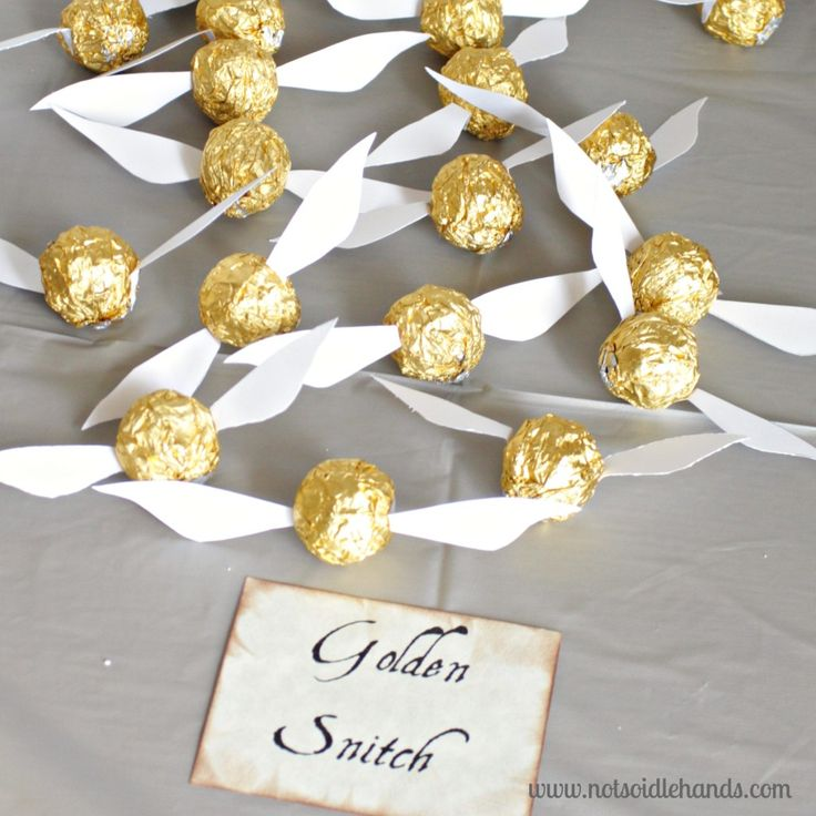 Homemade Golden Snitches - Harry Potter Birthday Party Ideas