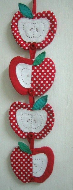 Apple coasters | by Just love sewing