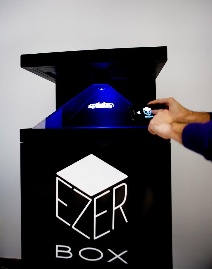 EzerBox interactive holographic installation.