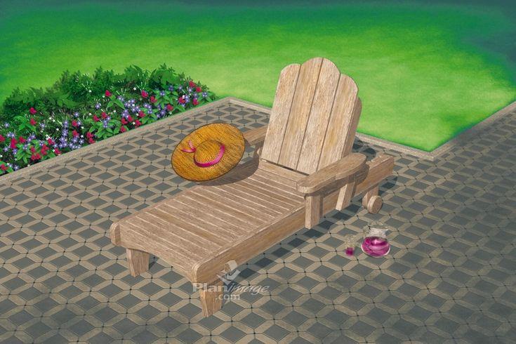 Les 25 meilleures id es de la cat gorie chaise longue en - Plan de chaise longue en bois ...