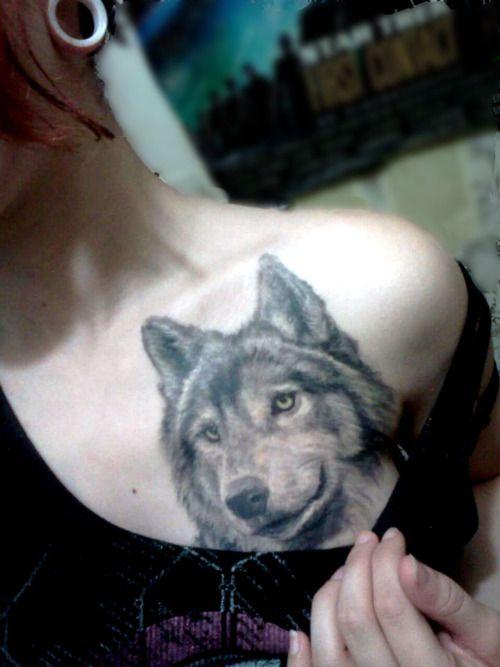 girl wolf tattoo - Pesquisa Google | Tattoos: wolf ...