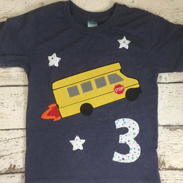Awesome one of a kind school bus design! Can be created for any birthday. Each piece of fabric is hand cut and sewn. This is a special keepsake that is sure to put a smile on any little bus/transportation lovers face :)  ***lil threadz loves custom orders! Dont want a birthday...prefer a name? No problem. If you dont see a theme or print that floats your boat in the shop please contact me to arrange a custom order.   OUR DESIGNS ARE MADE TO ORDER AND CUSTOMIZABLE. THEY CAN BE CREATED FOR...