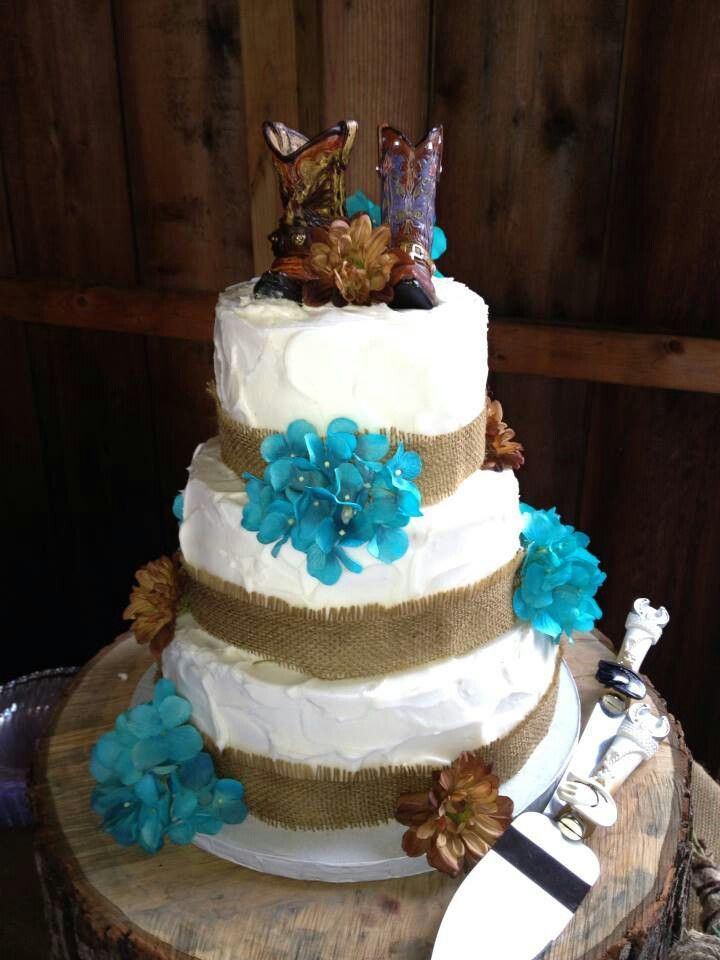 Country Wedding Toppers Cake