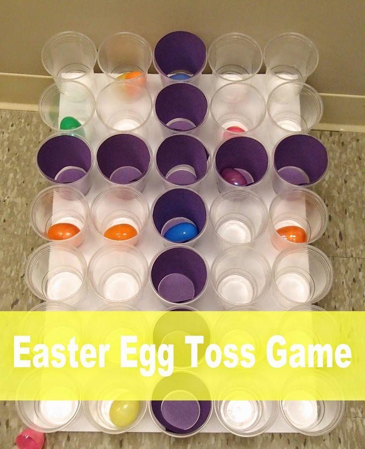 Easy Breezy Sunday School: Easter Egg Toss Game