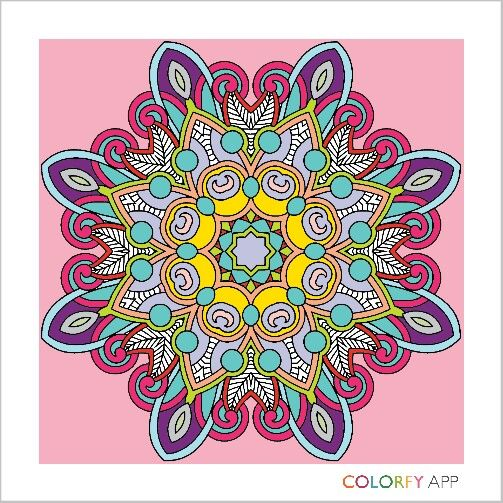 Colorful Mandala By Brebre1502 Colorfy Colorfyapp Getinspired Cute Beautiful