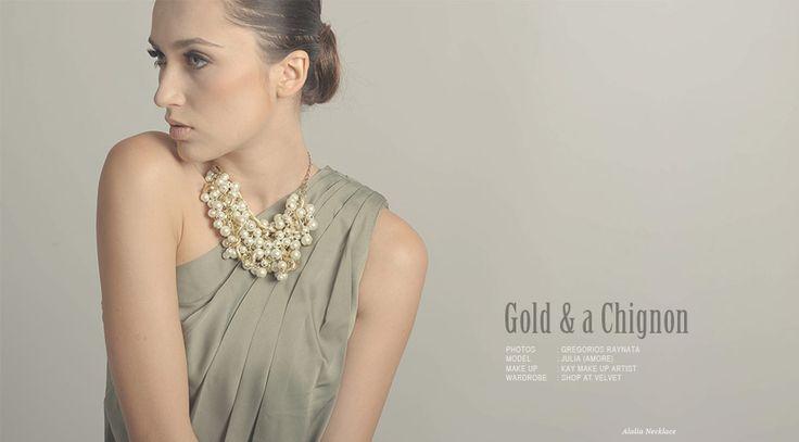 lookbook - jewellery - handmade accessories - gold a chignon