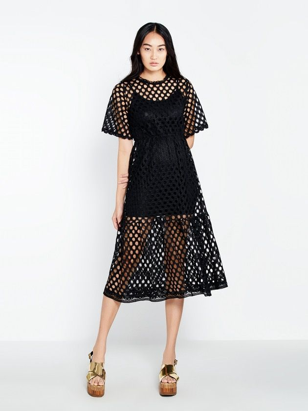 Image of Lita See Through Circle Midi Dress