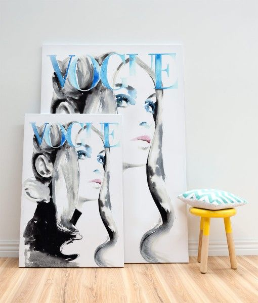 Vogue Cover Canvas Wall Art 1969 Jean Shrimpton Canvas Print-designed by Catherine Parr sold by Home @ Abode