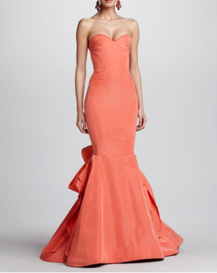 87 best dresses images on pinterest evening gowns prom dresses oscar de la renta strapless ruffle back fishtail gown neiman marcus junglespirit Gallery