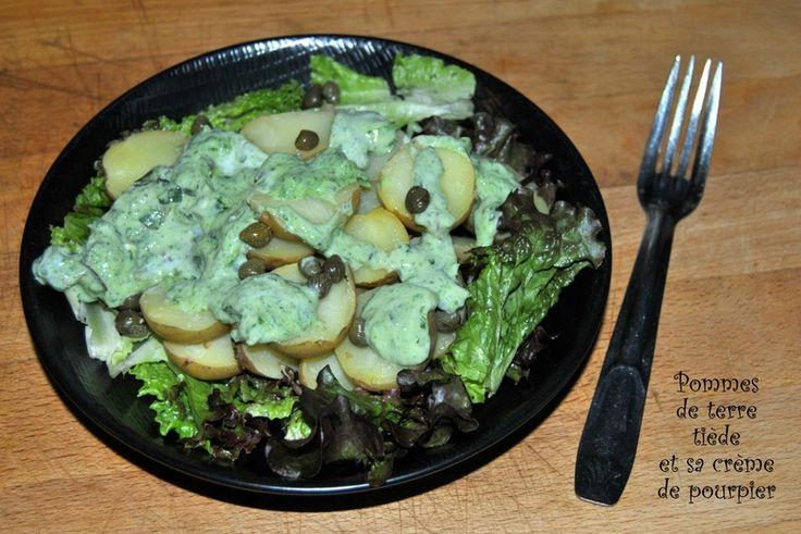 Pommes de terre tiède et sa crème de pourpier