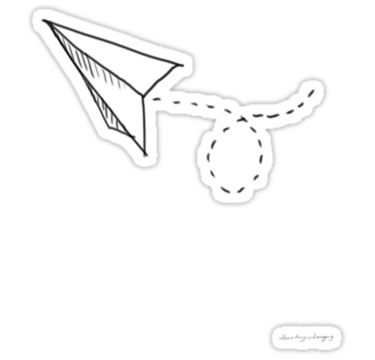 simply a cute paper plane flying away / <3 / [Any purchases are greatly appreciated!] • Also buy this artwork on stickers.