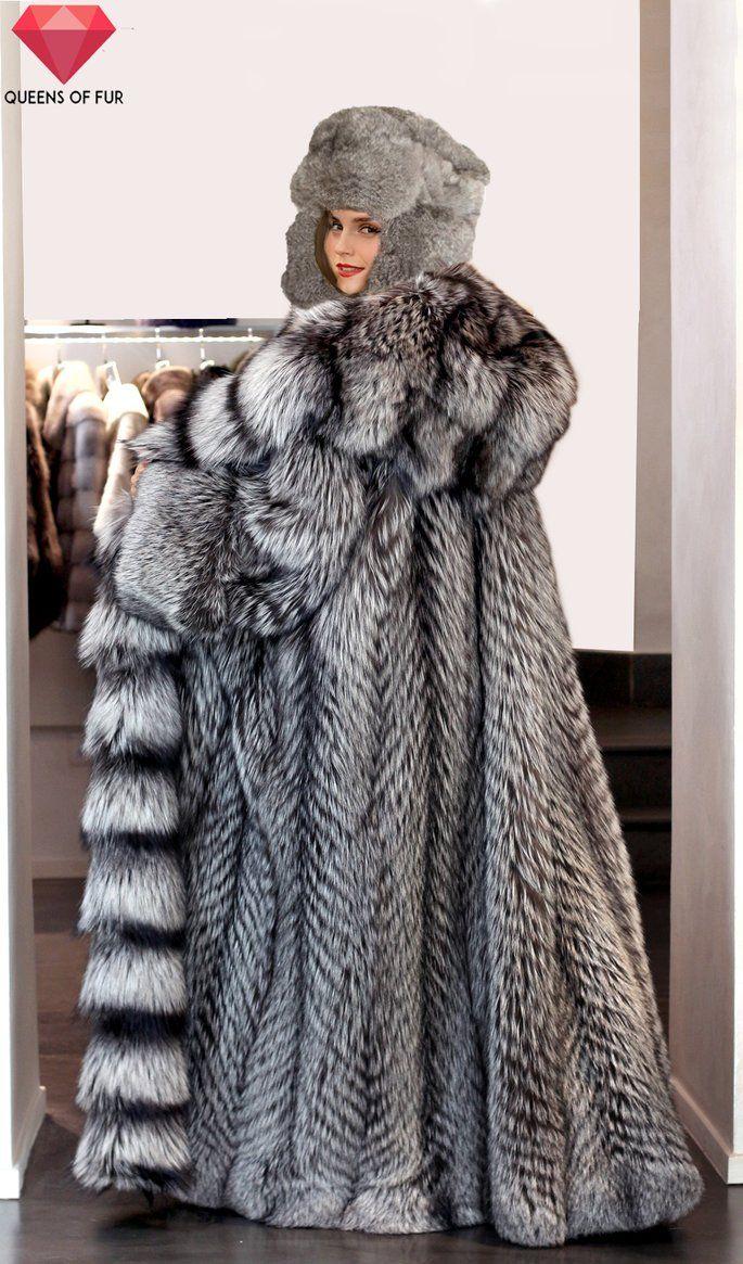 Emma Watson In Silver Fox Fur Coat And Hat 2 By Queens Of Fur Fur Coat Fur Fashion Coat [ 1165 x 685 Pixel ]