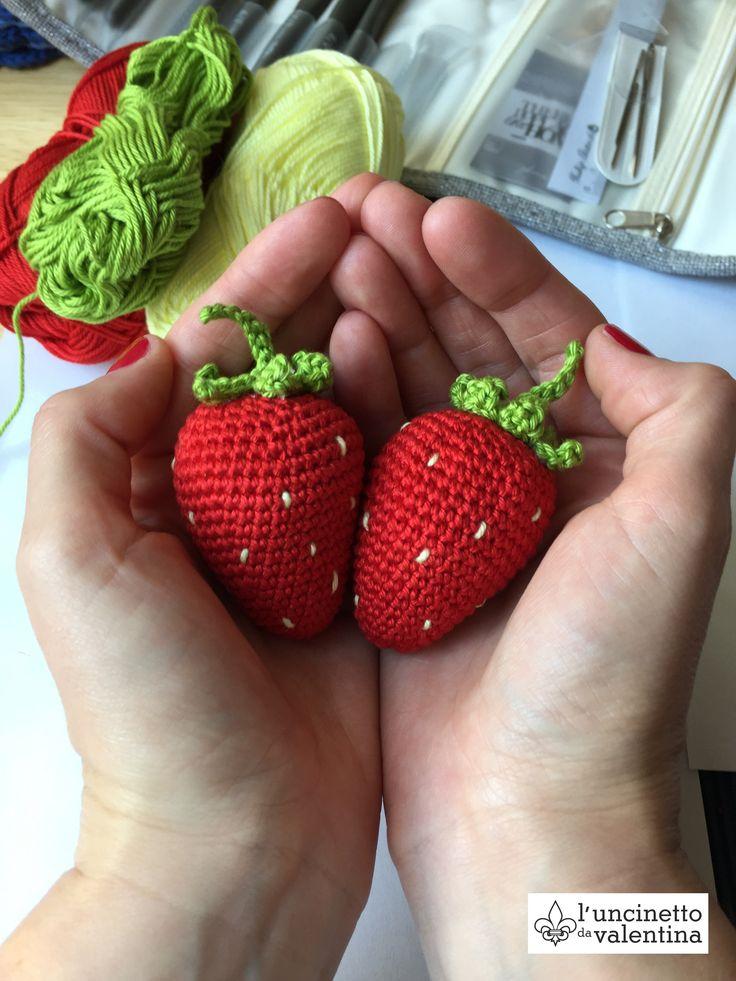 Häkelanleitung für Erdbeeren