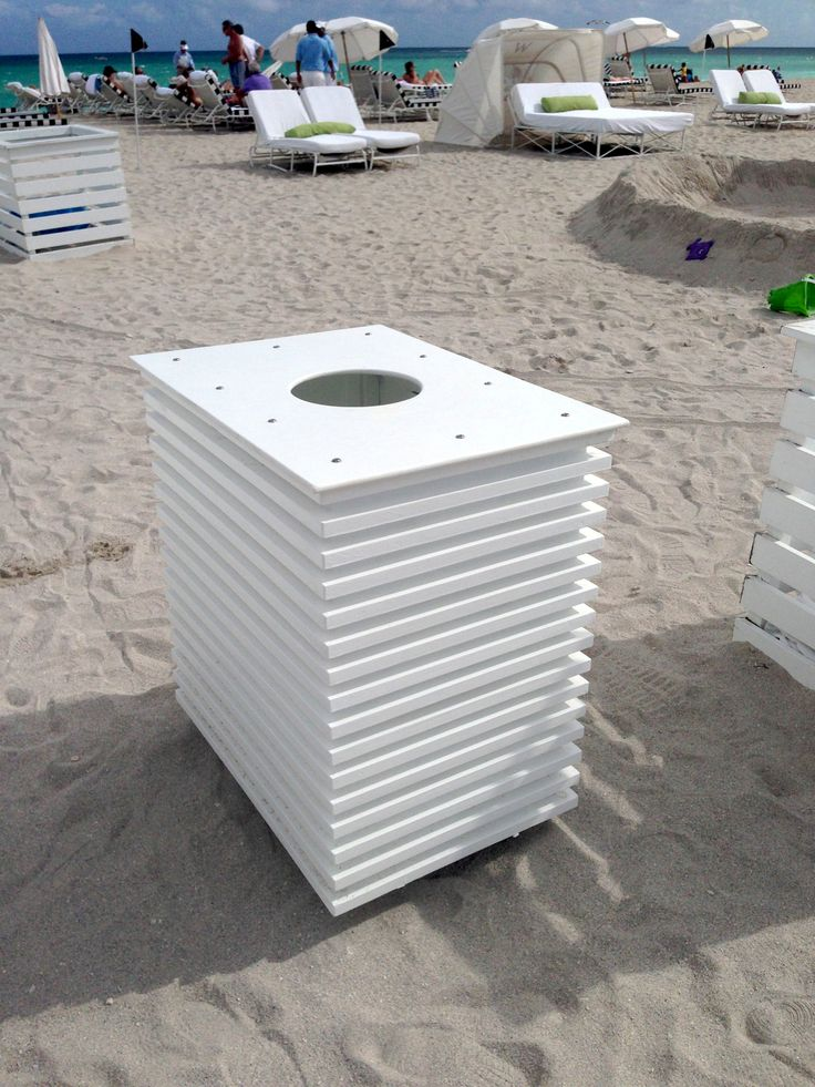 9 best pool deck and beach trash towel bins images on pinterest pool decks swimming pool for How to build a grain bin swimming pool