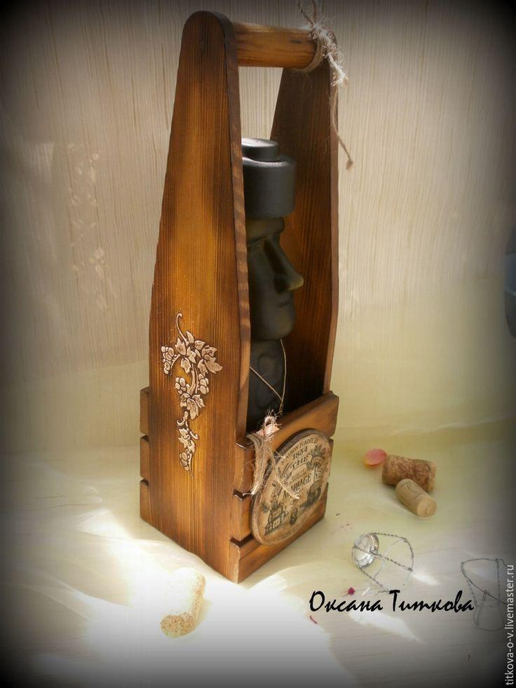 Купить Короб для бутылки... - коричневый, короб для кухни, купить подарок, купить короб для кухни