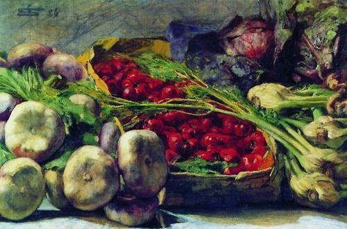 Giovanni Segantini, Still Life with Vegetables, 1886
