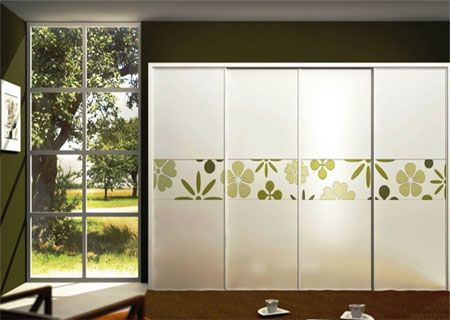 keep the mirror doors aand apply frosting or removable wallpaper,  Great inexpensive solution to ugly closet doors.