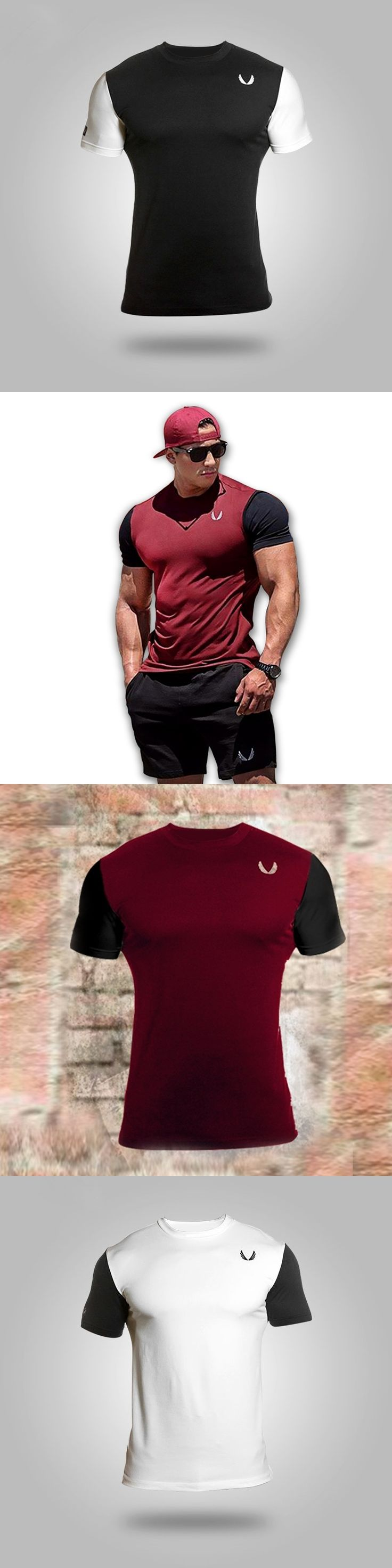 Stylish Men T Shirt raglan Streetwear Cotton Fitness Summer One Piece Slim Fit t-shirt Cheap Clothing for Male Fashion