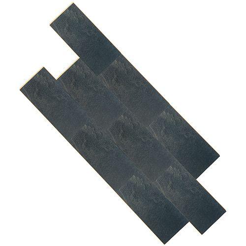 Plancher stratifié « Megaloc » 8mm, Noir